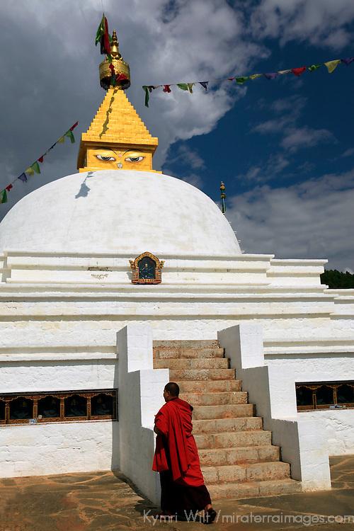 Asia, Bhutan, Punakha. Sangchen Lhuendrup Choling Nunnery, newly opened in 2010.