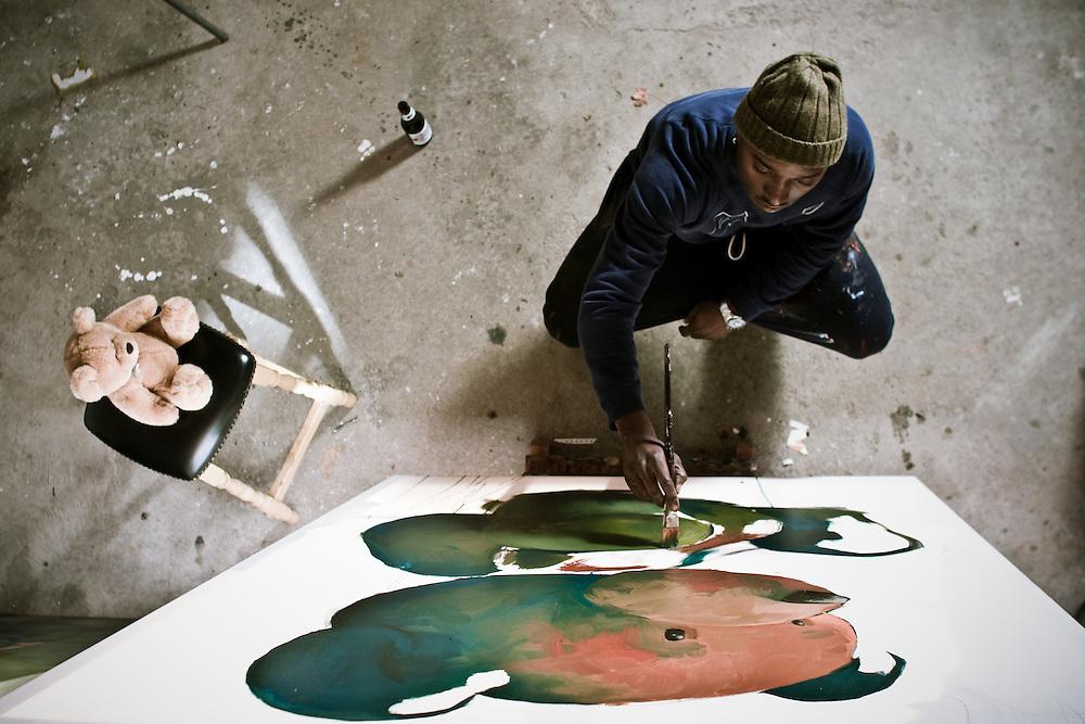 Artist Kwame Delfish shot for Molson 67
