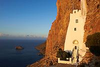 Grece, les Cyclades, ile de Amorgos, monastere de la Hozoviotissa // Greece, Cyclades islands, Amorgos, Hozoviotissa monastery