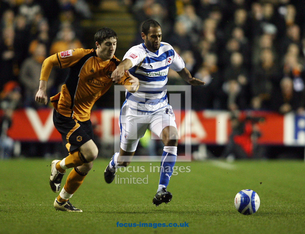 Reading - Tuesday January 27th, 2009: Jimmy Kebe of Reading in action against Stephen Ward of Wolverhampton Wanderers during the Coca Cola Championship match at The Madjeski Stadium, Reading. (Pic by Chris Ratcliffe/Focus Images)