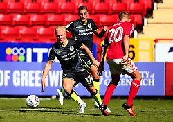 Ryan Broom of Bristol Rovers takes on Chris Solly of Charlton Athletic - Mandatory by-line: Robbie Stephenson/JMP - 05/08/2017 - FOOTBALL - The Valley - Charlton, London, England - Charlton Athletic v Bristol Rovers - Sky Bet League One