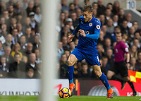 Football - 2016 / 2017 Premier League - Tottenham Hotspur vs. Leicester City<br /> <br /> Jamie Vardy of Leicester City races towards goal at White Hart Lane.<br /> <br /> COLORSPORT/DANIEL BEARHAM