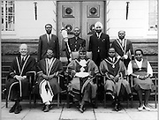 Yunus Ali (top left) was the first (and only) Nubian to be a Member of Paliament.  He along with other government officials have their photo taken, including Charles Rubia, the first African Mayor of Nairobi. (June 5, 1967)