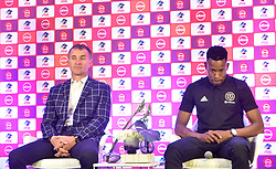 South Africa: Johannesburg: Orlando Pirates coach Milutin Sredojevic and captain Happy Jele, speaks during a press conference at the PLS officers in Parktown, on the much anticipated Soweto Derby on Saturday when Orlando Pirates host rivals Kaizer Chiefs for Absa Premiership match at FNB Stadium.<br />Picture: Itumeleng English/African News Agency (ANA)<br />793<br />24.10.2018