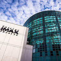 Picture of Entergy IMAX Theatre in New Orleans Louisiana. The Entergy IMAX Theatre features a five-and-a-half story screen and is the largest IMAX screen in the Gulf South.