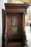 close up of a confessional Italy Rome