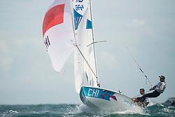 2012 Olympic Games London / Weymouth<br /> 470 men race course<br /> Gonzalez Diego, Grez Benjamin, (CHI, 470 Men)