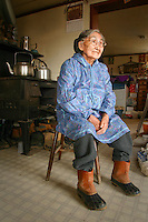 Yupik elder, Olinka K. Nicolai, at her home in Kwethluk, Alaska