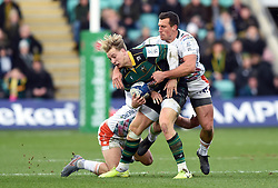 Harry Mallinder of Northampton Saints takes on the Benetton defence - Mandatory byline: Patrick Khachfe/JMP - 07966 386802 - 12/01/2020 - RUGBY UNION - Franklin's Gardens - Northampton, England - Northampton Saints v Benetton Rugby - Heineken Champions Cup
