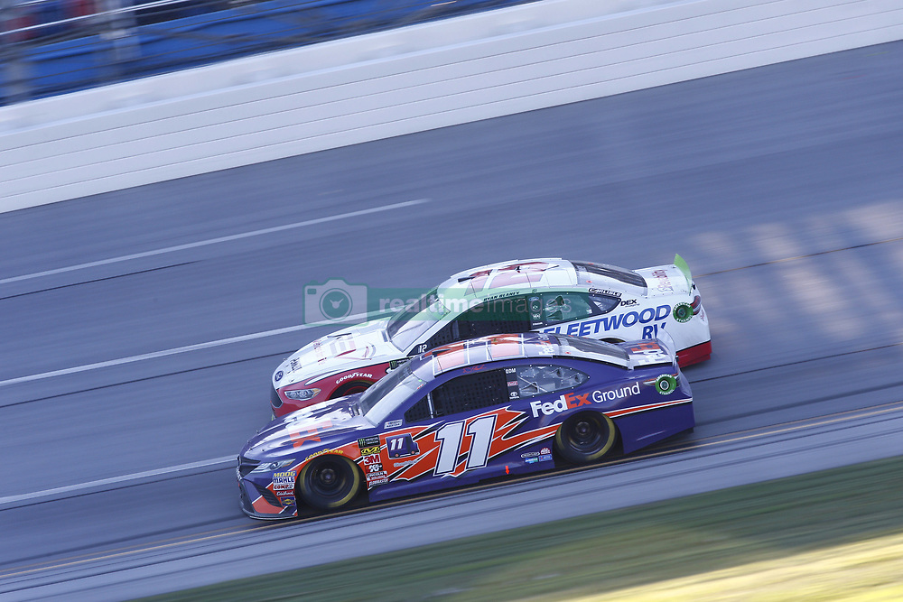 October 14, 2018 - Talladega, Alabama, United States of America - Denny Hamlin (11) battles for position during the 1000Bulbs.com 500 at Talladega Superspeedway in Talladega, Alabama. (Credit Image: © Justin R. Noe Asp Inc/ASP via ZUMA Wire)