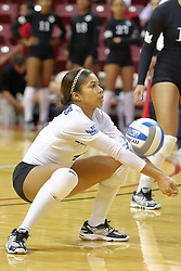 19 November 2010: Kiya James during an NCAA volleyball match between the Sycamores of Indiana State and the Illinois State Redbirds at Redbird Arena in Normal Illinois.