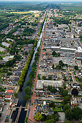 Nederland, Groningen, Stadskanaal, 27-08-2013;<br /> Het stadskanaal in Stadskanaal.<br /> luchtfoto (toeslag op standaard tarieven);<br /> aerial photo (additional fee required);<br /> copyright foto/photo Siebe Swart.