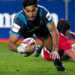Rieko Ioane, Eden Park, Auckland game 2 of the British and Irish Lions 2017 Tour of New Zealand,The match between the Auckland Blues and British and Irish Lions, Wednesday 7th June 2017   <br /> <br /> (Photo by Kevin Booth Steve Haag Sports)<br /> <br /> Images for social media must have consent from Steve Haag