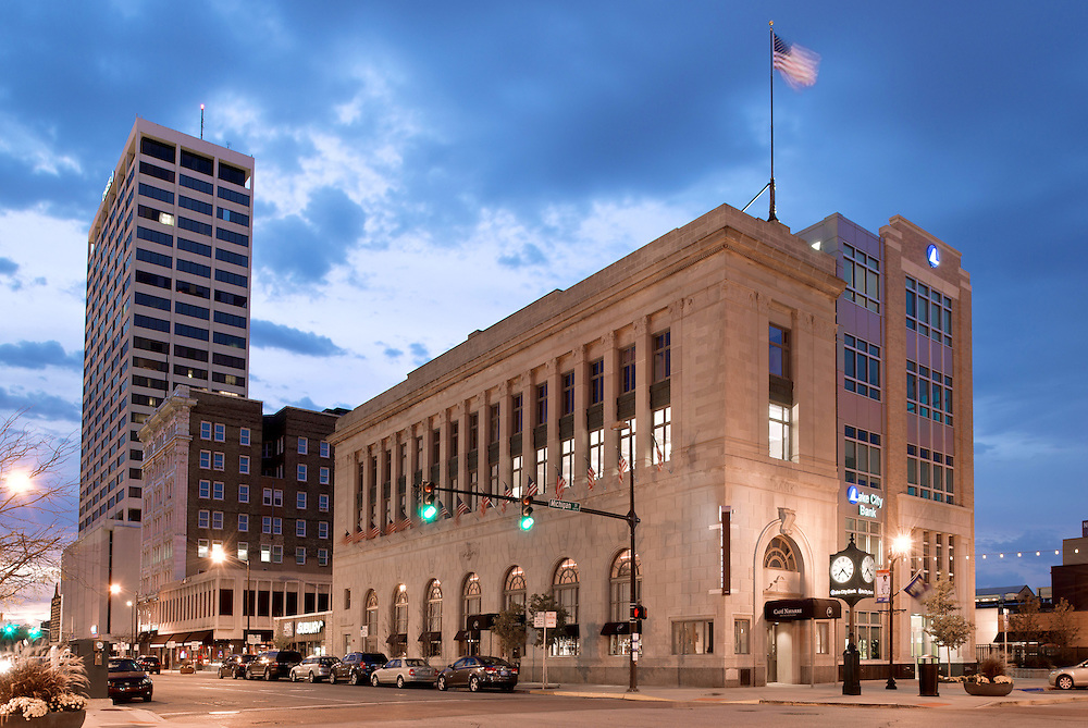 American Trust Building, South Bend, IN, by Architecture Design Group...Photo by Matt Cashore