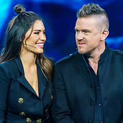 NLD/Amsterdam/20181025 - Finale The Talent Project 2018, Johnny de Mol en Yolanthe Sneijder-Cabau
