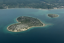 07.10.2012, Zadar, CRO, die gegent um das croatische Zadar aus aus dem Flugzeug, im Bild Island Galesnjak, also called Island of Love // during aerial photography of Zadar area, Zadar, Croatia on 2012/10/07. EXPA Pictures © 2012, PhotoCredit: EXPA/ Pixsell/ Filip Brala..***** ATTENTION - OUT OF CRO, SRB, MAZ, BIH and POL *****