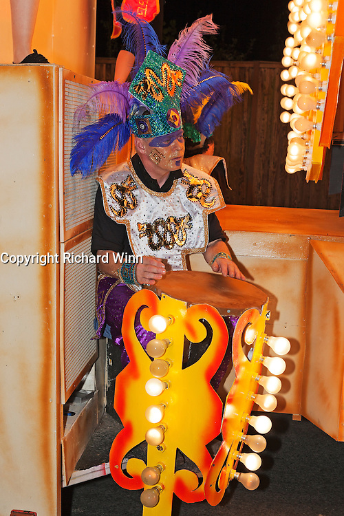 Performer on Inca by Wick Carnival Club at the 2011 Glastonbury Chilkwell Guy Fawkes Carnival.