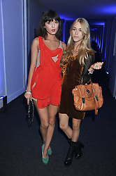 Left to right, IRINA LAZAREANU and MARY CHARTERIS at a party hosted by Rimmel London to celebrate the 10 year partnership with Kate Moss held at Battersea Power Station, London SW8 on 15th September 2011.