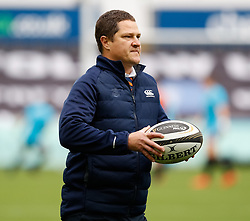 Coach Charl Strydom of Cheetahs during the pre match warm up<br /> <br /> Photographer Simon King/Replay Images<br /> <br /> Guinness PRO14 Round 2 - Ospreys v Cheetahs - Saturday 8th September 2018 - Liberty Stadium - Swansea<br /> <br /> World Copyright © Replay Images . All rights reserved. info@replayimages.co.uk - http://replayimages.co.uk