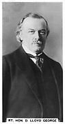 David Lloyd George, Ist Earl Lloyd-George of Dwyfor (1863-1945), Welsh Liberal statesman born in Manchester, Lancashire. British Prime Minister 1916-1922.