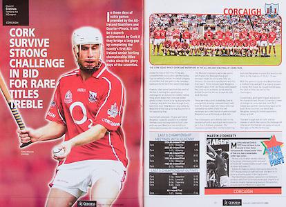 All Ireland Senior Hurling Championship Final,.03.09.2006, 09.03.2006, 3rd September 2006,.Senior Kilkenny 1-16, Cork 1-13,.Minor Tipperary 2-18, Galway 2-7.3092006AISHCF,.Cork, D Óg Cusack, P Mulcahy, D O'Sullivan, B Murphy, J Gardiner, R Curran, S Óg Ó hAilpín, T Kenny, J O'Connor, T McCarthy, N McCarthy, N Ronan, B O'Connor, B Corcoran, J Deane, Subs, K Murphy (Sarsfields) for Ronan, W Sherlock for Mulcahy, C Naughton for T McCarthy, C O'Connor for K Murphy, C Cusack for Kenny, Referee BKelly (Westmeath),.