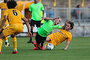 Forest Green Rovers Isaac Pearce(17) is brought down during the Pre-Season Friendly match between Torquay United and Forest Green Rovers at Plainmoor, Torquay, England on 10 July 2018. Picture by Shane Healey.