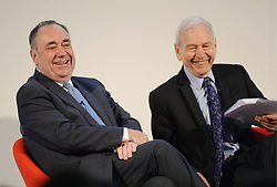 Image ©Licensed to i-Images Picture Agency. 22/07/2014. Glasgow, Scotland. (L - R ) Alex Salmond, First Minister of Scotland and John Humphrys presenter of Radio 4's Today programme during the  Commonwealth Games Business Conference 2014 at Glasgow University. Picture by Andrew Parsons / i-Images