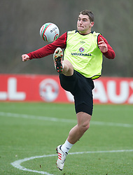 CARDIFF, WALES - Sunday, March 24, 2013: Wales' Sam Vokes during a training session at the Vale of Glamorgan ahead of the 2014 FIFA World Cup Brazil Qualifying Group A match against Croatia. (Pic by David Rawcliffe/Propaganda)  CARDIFF, WALES - Sunday, March 24, 2013: Wales' xxxx during a training session at the Vale of Glamorgan ahead of the 2014 FIFA World Cup Brazil Qualifying Group A match against Croatia. (Pic by David Rawcliffe/Propaganda)