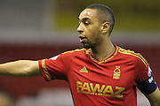 Nottingham Forest forward Dexter Blackstock during The FA Cup third round match between Nottingham Forest and Queens Park Rangers at the City Ground, Nottingham, England on 9 January 2016. Photo by Aaron Lupton.
