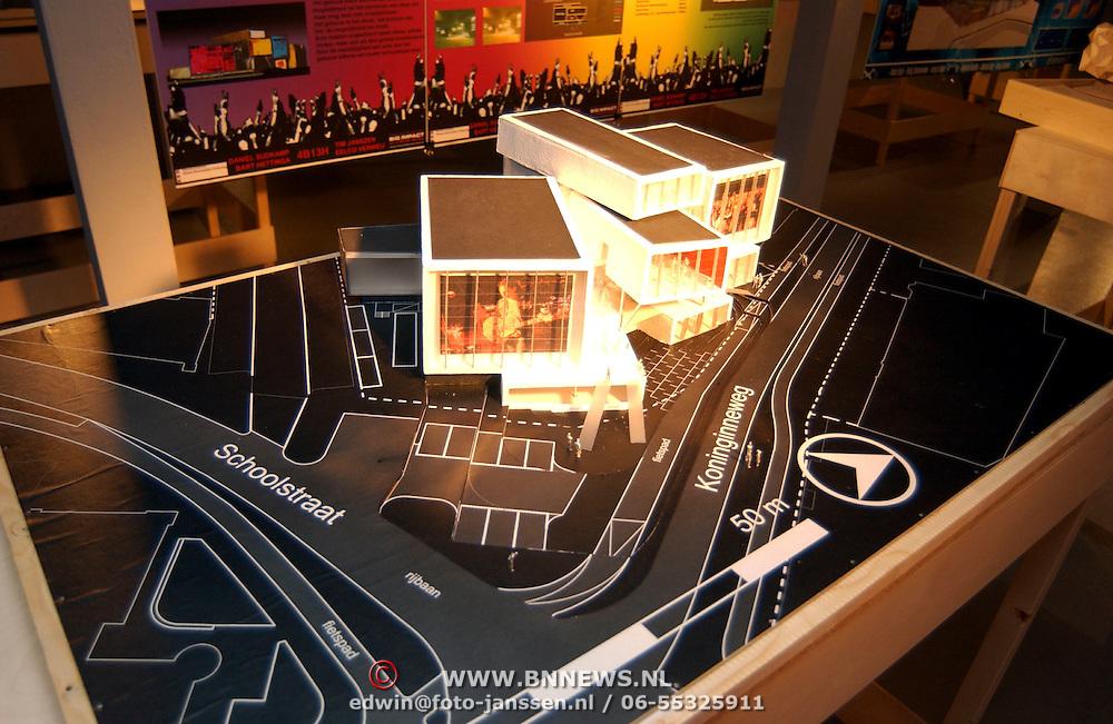 Maquette van de nieuwbouw de Tagrijn Hilversum