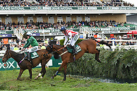 National Hunt Horse Racing - 2019 Randox Health Grand National Festival - Friday, Day Two (Ladies Day)<br /> <br /> Charlie Deutsch on no 29 Beau Bay jumps the Water Jump<br /> in the 16:05 Randox Health Topham Handicap Chase (Grade 3) (National Course)) at Aintree Racecourse.<br /> <br /> COLORSPORT/WINSTON BYNORTH
