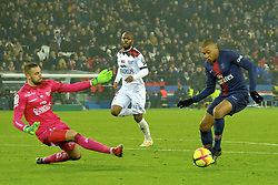 January 19, 2019 - Paris, Ile de France, France - Paris SG Forward KYLIAN MBAPPE score the second goal during the French championship League 1 Conforama match Paris SG against EA Guingamp at the Parc des Princes Stadium in Paris - France.Paris SG won 9-0 (Credit Image: © Pierre Stevenin/ZUMA Wire)