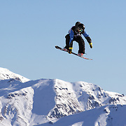 Brage Braaten, Norway, in action during the Snowboard Slopestyle Men's competition at Snow Park, New Zealand during the Winter Games. Wanaka, New Zealand, 21st August 2011. Photo Tim Clayton