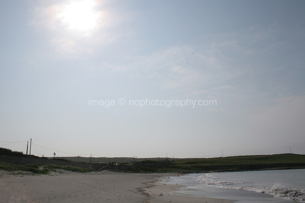 Evening sunlight, beach on the Aran Islands County Galway Ireland