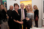 SUSIE TOPOLSKI; DAN TOPOLSKI; BASIA BRIGGS, Mrs. Richard Briggs at home.  Sloane Gardens. London. 20 October 2011. <br /> <br />  , -DO NOT ARCHIVE-© Copyright Photograph by Dafydd Jones. 248 Clapham Rd. London SW9 0PZ. Tel 0207 820 0771. www.dafjones.com.