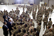 01.MAY.2012. BAGRAM<br /> <br /> PRESIDENT BARACK OBAMA GREETS U.S. TROOPS FOLLOWING HIS REMARKS AT BAGRAM AIR FIELD, AFGHANISTAN, MAY 1, 2012. THE PRESIDENT MADE THREE TRIPS AROUND THE ROPELINE TO TRY AND SHAKE EVERY HAND.  <br /> <br /> BYLINE: EDBIMAGEARCHIVE.CO.UK<br /> <br /> *THIS IMAGE IS STRICTLY FOR UK NEWSPAPERS AND MAGAZINES ONLY*<br /> *FOR WORLD WIDE SALES AND WEB USE PLEASE CONTACT EDBIMAGEARCHIVE - 0208 954 5968*