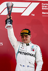 May 13, 2018 - Barcelona, Catalonia, Spain - 77 Valtteri Bottas from Finland Mercedes W09 Hybrid EQ Power+ team Mercedes GP celebrating his second place at the podium during the Spanish Formula One Grand Prix at Circuit de Catalunya on May 13, 2018 in Montmelo, Spain. (Credit Image: © Xavier Bonilla/NurPhoto via ZUMA Press)