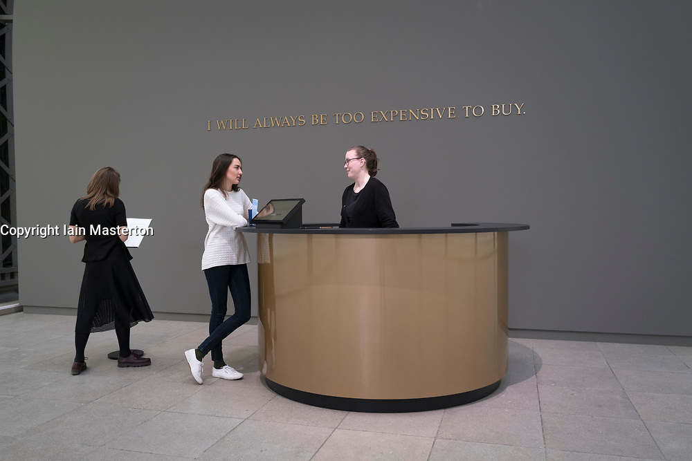 Art installation by Adrian Piper. The Probable Trust Registry: The Rules of the Game #1-3 at Hamburger Bahnhof modern art museum in Berlin, Germany