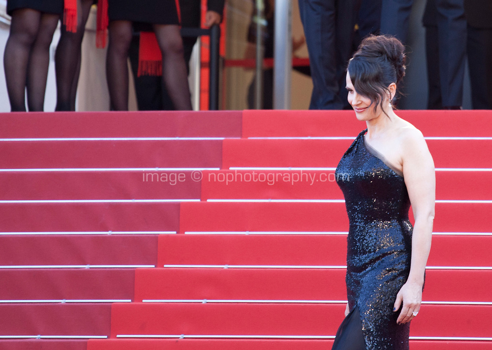 arriving to the Closing Ceremony and awards at the 70th Cannes Film Festival Sunday 28th May 2017, Cannes, France. Photo credit: Doreen Kennedy