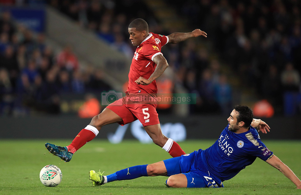 Liverpool's Georginio Wijnaldum during the Carabao Cup, third round match at the King Power Stadium, Leicester.