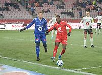 Fotball , 8. november 2019 , Eliteserien , Brann - Odd<br /> Daouda Bamba , Brann <br /> Sondre Rossbach , Odd