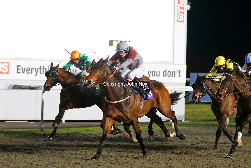 Zaheeb and William Carson winning the 8.00 race
