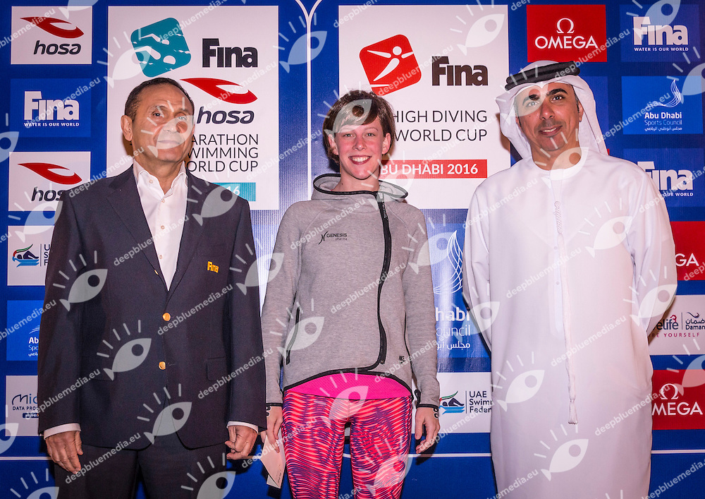 Gala Dinner<br /> FINA/HOSA 10 Km Marathon Swimming World Cup  2016 Kalliopi Araouzou GRE Greece<br /> Khalideya Palace<br /> Day1  26 Feb.2016<br /> Photo G.Scala/Insidefoto/Deepbluemedia