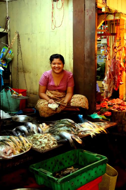 Thein Ghyi Zei Market, Yangon, Myanmar.