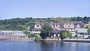 Henley On Thames. Oxfordshire/ Berkshire. United Kingdom. 26/17.05.2017. General View, Leander Club. River Thames. <br /> <br /> <br /> [Mandatory Credit Peter SPURRIER/Intersport Images]
