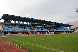 View on the stadium during football match between ND Gorica and ND Mura 05 in 20th Round of Prva liga NZS 2012/13, on November 24, 2012 in Nova Gorica, Slovenia. (Photo by Ales Cipot / Sportida)