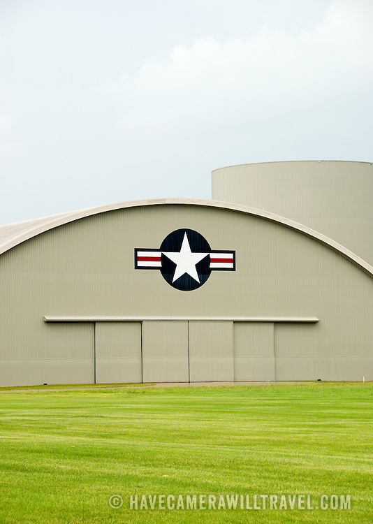 Hangar exterior at the National Museum of the United States Air Force at Wright-Patterson Air Force Base near Dayton, Ohio