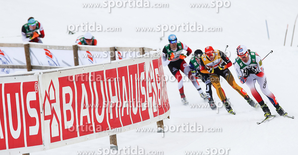 30.01.2015, Langlaufzentrum, Lago di Tesero, ITA, FIS Weltcup Nordische Kombination, Val di Fiemme, Langlauf, im Bild Eric Frenzel (GER) Espen Andersen (NOR) // during Cross Country of the FIS Nordic Combined World Cup Val di Fiemme at the Langlaufzentrum in Lago di Tesero, Italy on 2015/01/30. EXPA Pictures © 2015, PhotoCredit: EXPA/ Alice Russolo
