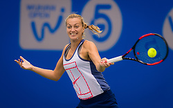 September 22, 2018 - Petra Kvitova of the Czech Republic practices at the 2018 Dongfeng Motor Wuhan Open WTA Premier 5 tennis tournament (Credit Image: © AFP7 via ZUMA Wire)