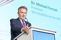 12 SEP 2019, BERLIN/GERMANY:<br /> Dr. Michael Frenzel, Praesident Wirtschaftsforum der SPD, haelt eine REde, Jahreskonferenz des Wirtschaftsforums der SPD,  The Ritz-Carlton Berlin<br /> IMAGE: 20190912-01-256